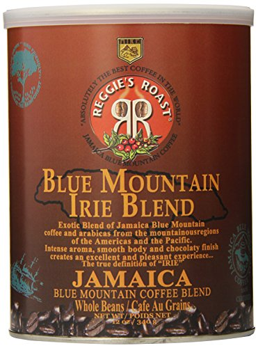 Reggie's Roast Jamaica Blue Mountain Irie Blend Whole Bean Coffee, 12-Ounce Cans (Pack of 3)