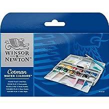 Winsor & Newton Cotman Water Color Pocket Plus Set of 12 Half Pans