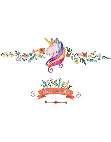 Decoración infantil de pared, unicornio impresión bling estrellas eliminación arte pegatinas DIY niños niñas dormitorio