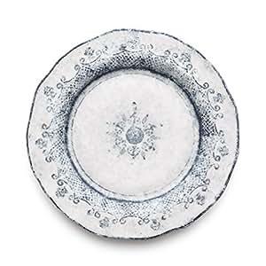Arte itálica Burano plato llano, azul por arte Itálica