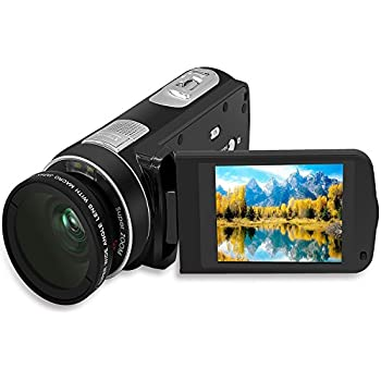 SEREE HDV-M6 Full HD 1080P Beauty Face Max. 24MP DIS Face Detection Elegant Appearance Self Timer Camcorder FHD Video Camera (HDV-M6)