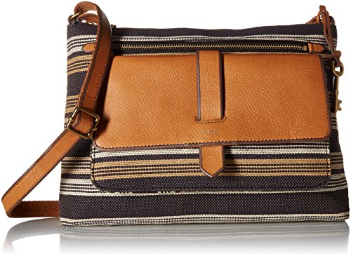 Fossil Kinley Crossbody Bag, Neutral Stripe,One Size