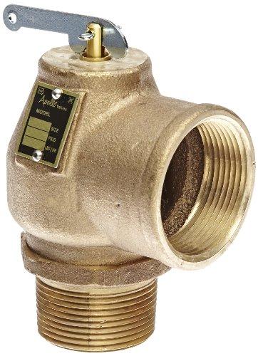 Apollo Valve 13-213 Series Bronze Safety Relief Valve, ASME Steam, 15 psi Set Pressure, 1-1/4