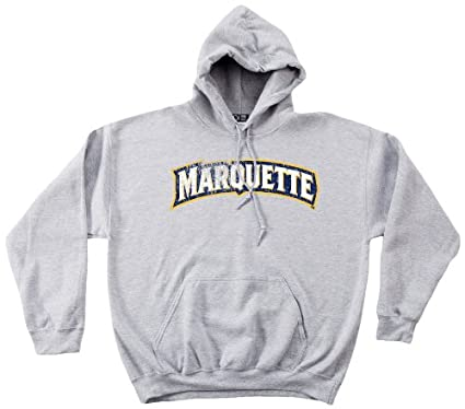 hot sale online b4c3b 24f8d Amazon.com   NCAA Marquette Golden Eagles 50 50 Blended 8-Ounce Vintage  Arch Hooded Sweatshirt   Sports   Outdoors