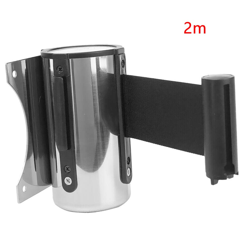 Queue Rope Barrier Crowd Control Band Ribbon wistaria251 Wall Mounted Retractable Barrier Belt Safety Security Barriers 2m//3m//5m