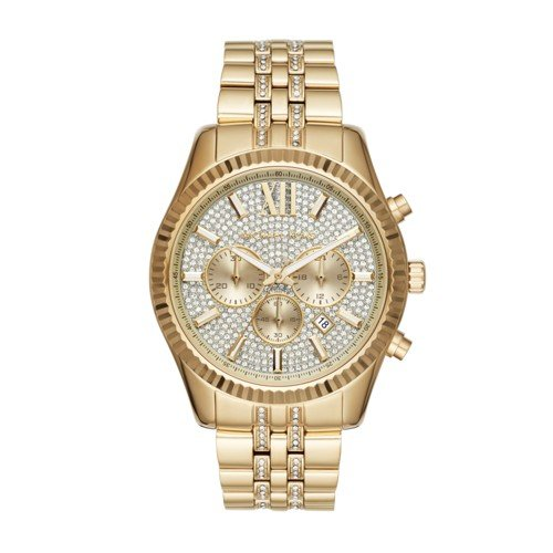 Michael Kors Men's Quartz Stainless Steel Casual Watch, Color:Gold-Toned (Model: MK8579)