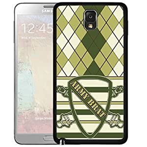 Army Brat Children of Soldiers Armed Forces Green Plaid Design Hard Snap on Cell Phone Case Cover Samsung Galaxy Note 3 N9000