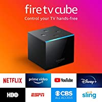 Fire TV Cube, hands-free with Alexa built in, 4K Ultra HD, streaming media player, released 2019