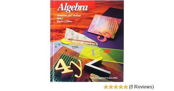 Algebra structure method book 1 brown 9780395771167 amazon algebra structure method book 1 brown 9780395771167 amazon books fandeluxe Choice Image