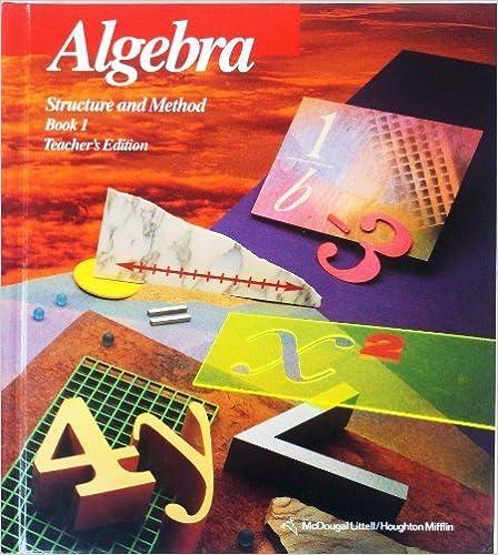 Algebra structure method book 1 brown 9780395771167 amazon algebra structure method book 1 fandeluxe Choice Image