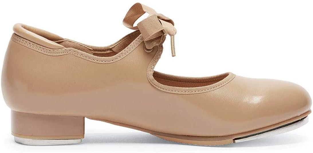 So Danca Little Girls 13 Black Beginner Lace Up Attached Tap Shoe