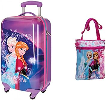 DISNEY: Pack Maleta Frozen Magic de 55 cm + Bandolera Frozen de ...