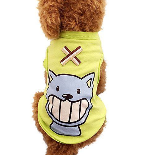 Texas Rangers Blade - WEUIE Clearance Sale Colorful Cute Pet Vest Clothing Small Puppy Costume Summer Apparel (S,Green)