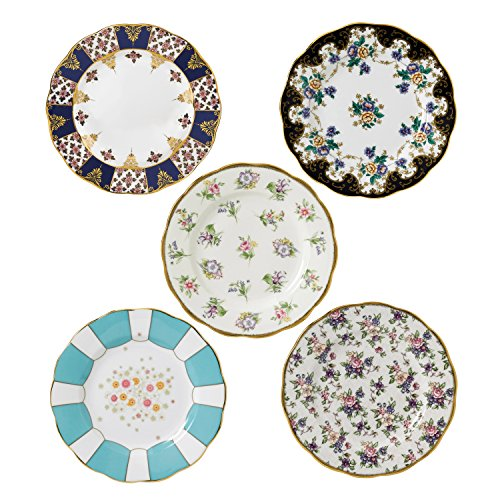 Royal Albert 40017560 100 Years 1900-1940 Plate Set, 8
