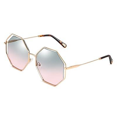 13bf325bbc9dee   Lunettes de protection Mesdames lunettes de soleil personnalité creuse  cadre lunettes de soleil Bright Lens Drive