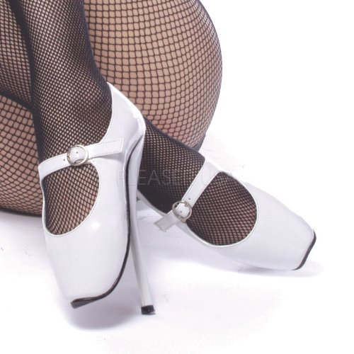 Devious Women's Ballet-08 Patent Leather Shoes,White Patent,11 M