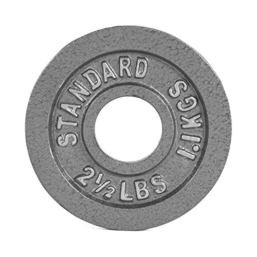 CAP Barbell Olympic 2-Inch Weight Plates, Gray, Single, 2.5 Pound (A Two Pound Half And Weights)