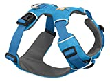 RUFFWEAR BLUE FRONT RANGE DOG HARNESS AND BLUE MOUNTAIN FLAT OUT LEASH ♦ ALL DAY TRAINING ADJUSTABLE ADVENTURE ♦ ALL SIZES (Medium)