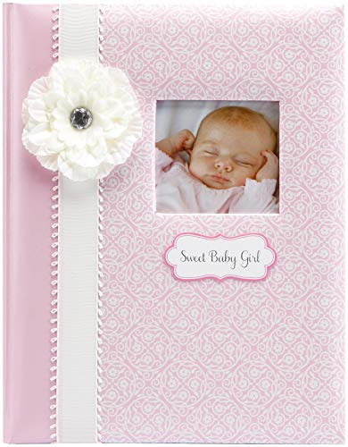 C.R. Gibson Pink and White 'Sweet Baby Girl' Bound First Five Years Baby Book, 64pgs, 10'' W x 11.75'' H