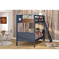 DONCO Kids 1845TTB Series Bed, Twin/Twin, Blue