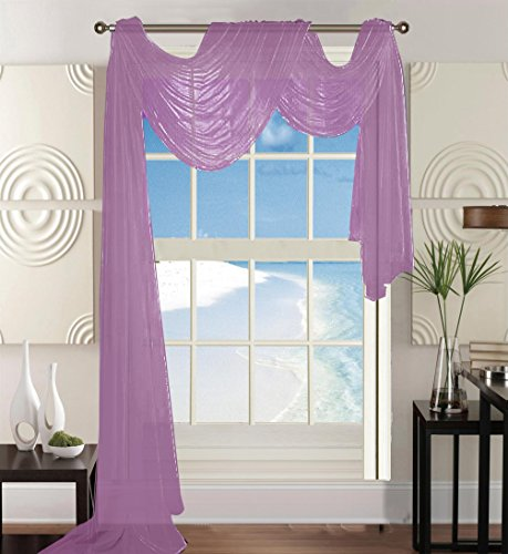 Elegant Comfort Beautiful Window Panel Curtain Sheer Voile Scarf 55