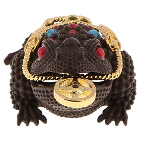 Flameer Copper Frog Censer Ornamental Incense Burner Holder Backflow Stick Burner Holder Tray for Good Fortune Attach Money - ()