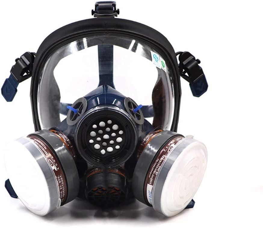 Máscara respiratoria integral ST-S100-3 para gases con doble filtro de aire para protección ocular, frente a polvo, gases químicos y vapores orgánicos