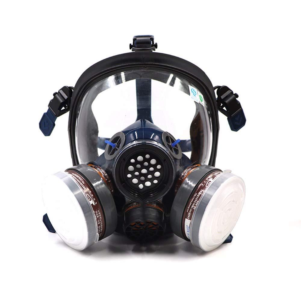 ST-S100-3 - Máscara de Gas con respirador de Cara Completa a Prueba de Polvo, Doble Filtro de Aire, protección de Ojos, protección respiratoria, respirador de Vapor orgánic