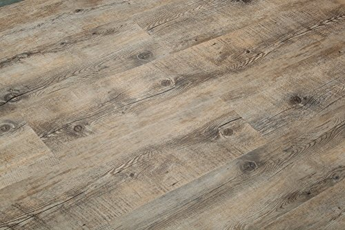 Luxury Vinyl Plank - 8.7mm Extra Thick Click Lock Luxury Vinyl Flooring Plank 100% Waterproof w/EVA underpad: 47.28sqft($3.77/sqft): Superior wear Protection - 28 mil wear Layer and UV Coating - Scratch Resistance