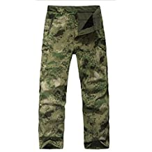 Waterproof Tactical Military Army Combat Soft Shell Pants Camouflage Shark Skin Fleece Ling Outdoor Sports Camping Hiking Trousers