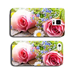 Flowers on old wood cell phone cover case Samsung S5
