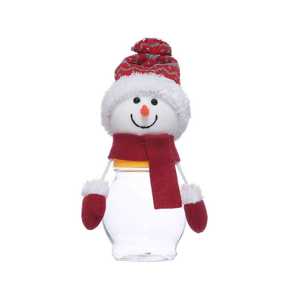 XINDEEK Christmas Candy Storage Basket Cans Santa Claus Elk Packaging Chocolate Jar Bin(B)