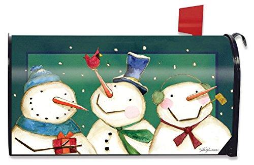 Briarwood Lane Folksy Folks Winter Magnetic Mailbox Cover Primitive Snowman Cardinal Standard
