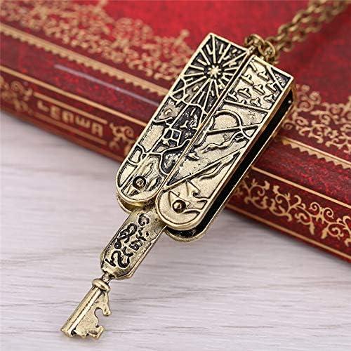 Amazon.com: Davitu Lolita Vintage Jewelry Grimm Key Charm Necklace Women Men Bronze Pendant Necklace Accessories Link Necklaces Gift