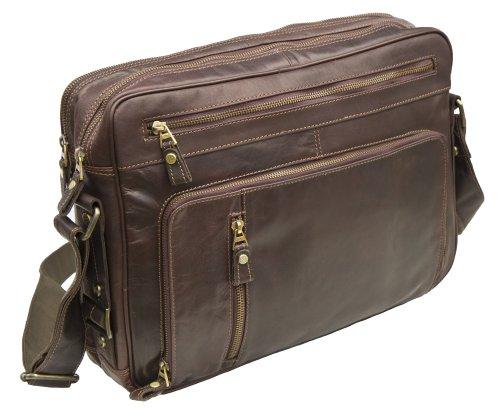 Prime Hide Outback Range Große Braun Leder Flight Tasche–944