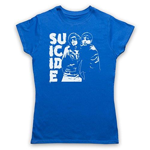 Suicide Musical Duo Band Camiseta para Mujer Azul Real