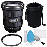 Tokina AT-X 14-20mm f/2 PRO DX Lens for Canon EF (International Model) No Warranty + Deluxe Cleaning Kit + 82mm UV Filter + Deluxe Lens Pouch Bundle 5