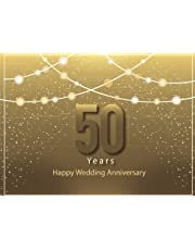 50 Years Happy Wedding Anniversary: Guest Book for 50th Wedding Anniversary, Golden Wedding Ring, Gift for Couples