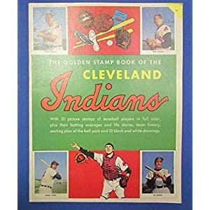1955 CLEVELAND INDIANS GOLD STAMP BOOK