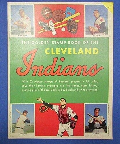 1955 CLEVELAND INDIANS GOLD STAMP BOOK