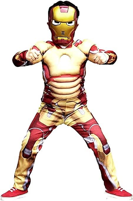 Disfraz de carnaval de Iron Man incluye mono entero con músculos y ...