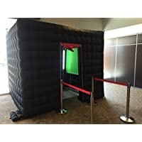 AmazingsportsTM Inflatable Portable Photo Booth For Hire For Rental For Party With LED Light And Controller With Inner Air Blower (Two Doors)