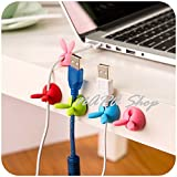 Tenske storage Organizer 4pcs Silica gel Headphone Headset Wire Wrap Cable Cord Winder Container20 GIFT 2017 Drop