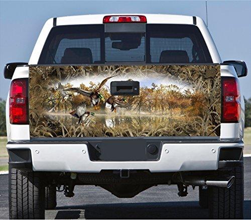 Mallard Duck Hunting - Truck Tailgate Wrap Decal Mallard Ducks Grass Camo 3m Cast 10 Yr Vinyl Laminated