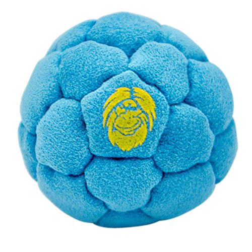 Best Hacky Sack and Footbag | No-Bust Stitching for Hard Kicking | 32 Panel Symmetry for Balance Tricks and Stalling | Professionally Hand-Stitched with Suede Material (Sand, Blue)