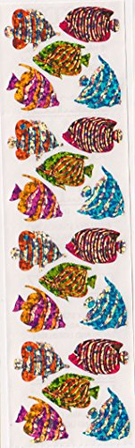 Angelfish Glitter Stickers - 2 Sheets