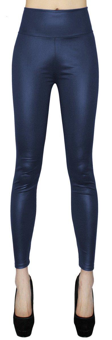 High Waist Damen Kunstleder Leggings in Uni Farben Leder Optik Treggings  Leggings - Gr. 34 / 36 / 38 - JL022: Amazon.de: Bekleidung