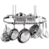 """Range Kleen Oval Hanging Pot Rack (Stainless Steel) """"Product Category: Kitchen Appliances & Accessories/Kitchen Accessories"""""""