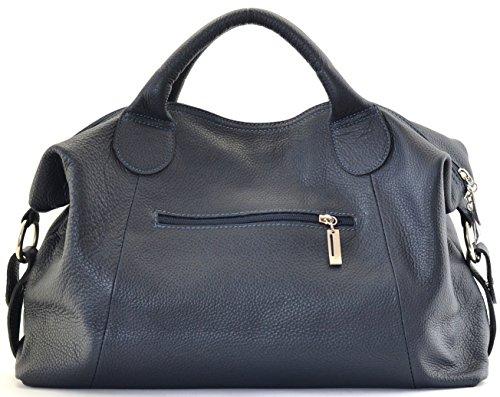 collection DESTOCK nouvelle sac bandoulière à grainé scarlett main modèle cuir CUIR BLEU porté FONCE main et 2018 wxOqfT7p