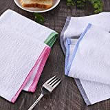 Terry Cotton Dish Cloths for Kitchen White, Good